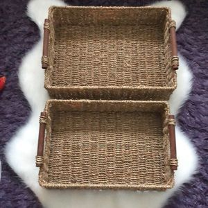 Other - 2 wicker baskets. Large is 16X12 small is 15X10